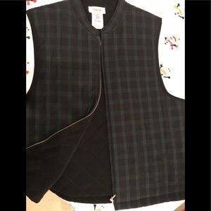 Talbots quilted zip vest